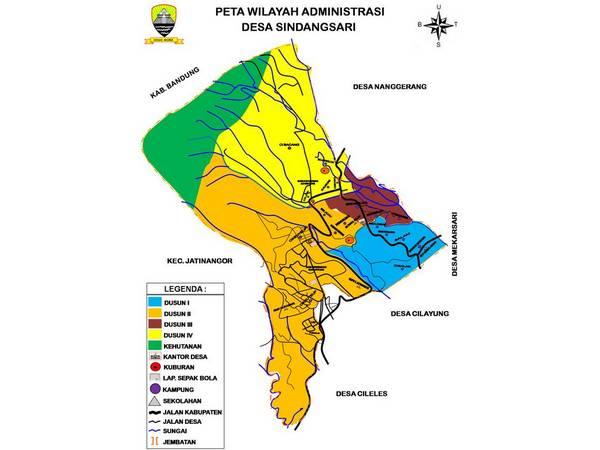 Peta wilayah Desa Sindangsari (gambar: Pemdes Sindangsari)