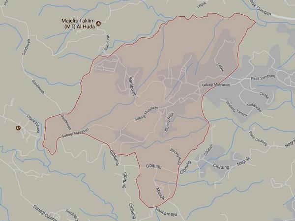 Peta wilayah Desa Sirnamulya (gambar: Google Maps)