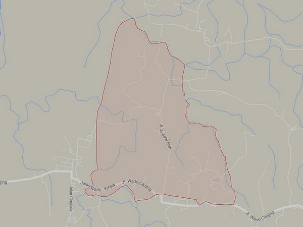 Peta wilayah Desa Sirnasari (gambar: Google Maps)
