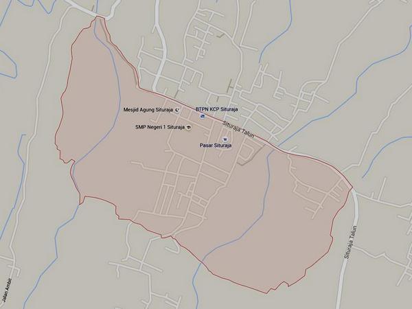 Peta wilayah Desa Situraja (gambar: Google Maps)