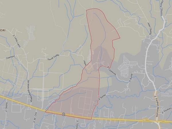 Peta wilayah Desa Sukadana (gambar: Google Maps)