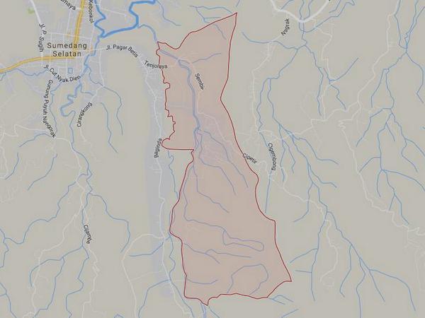 Peta wilayah Desa Sukagalih (gambar: Google Maps)