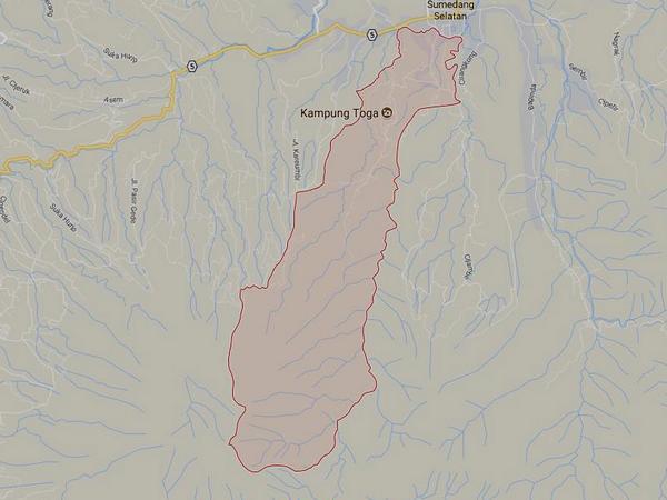 Peta wilayah Desa Sukajaya (gambar: Google Maps)