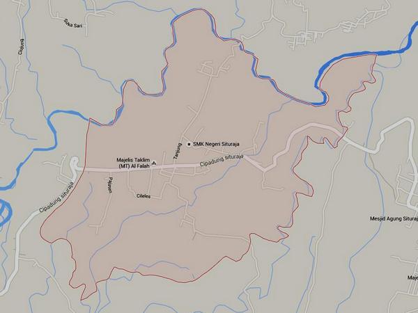 Peta wilayah Desa Sukatali (gambar: Google Maps)