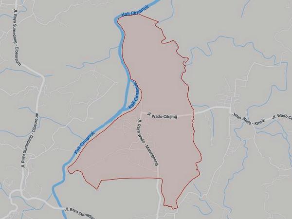 Peta wilayah Desa Wado (gambar: Google Maps)