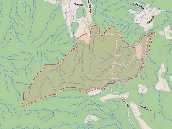Peta wilayah Desa Wargaluyu (gambar oleh Google Maps)
