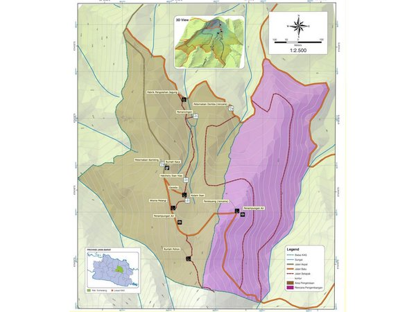 Peta wilayah KAS (Kawasan Agroteknobisnis Nangorak Sumedang)
