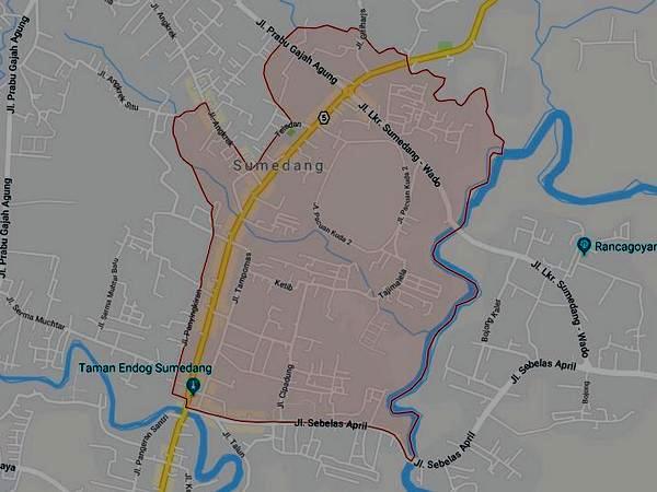 Peta wilayah Kelurahan Kotakaler (gambar: Google Maps)
