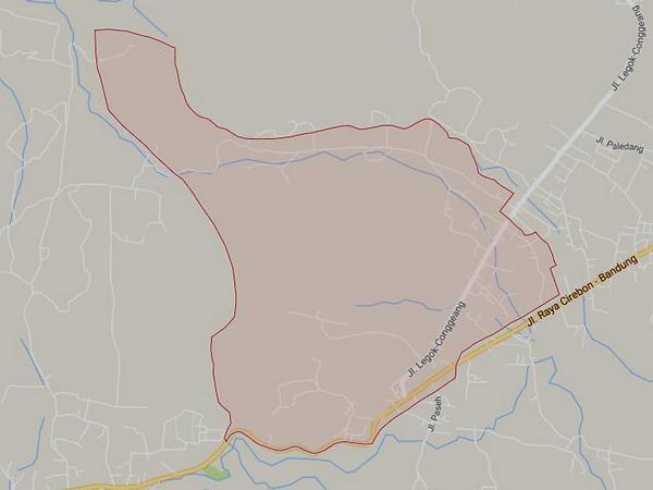 Peta wilayah Desa Legok Kaler (gambar: Google Maps)