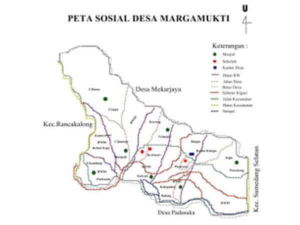 Peta wilayah Desa Margamukti (gambar: Desa Margamukti)