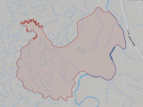 Peta wilayah Desa Marongge (gambar: Google Maps)