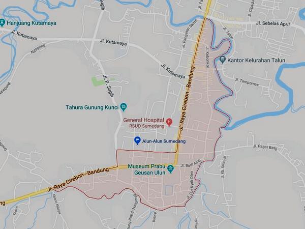 Peta wilayah Kelurahan Regol Wetan (gambar: Google Maps)