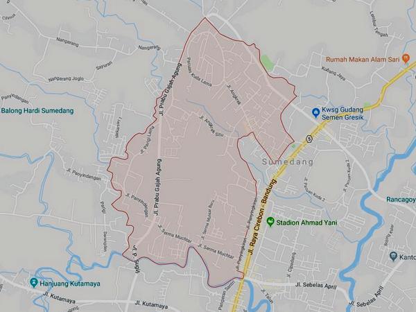 Peta wilayah Kelurahan Situ (gambar: Google Maps)