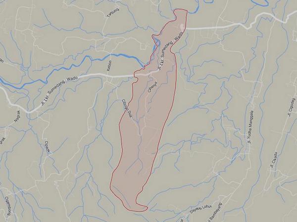 Peta wilayah Desa Sukaluyu (gambar: Google Maps)