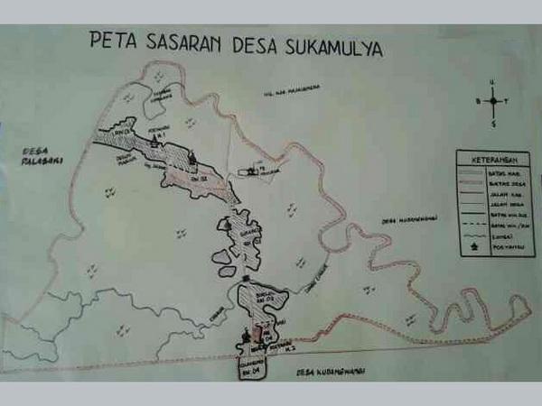Peta wilayah Desa Sukamulya (foto: Desa Sukamulya)