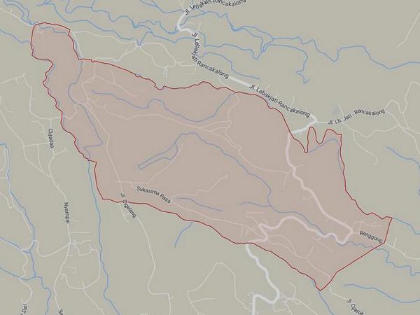 Peta Desa Sukasirnarasa (gambar: Google Maps)