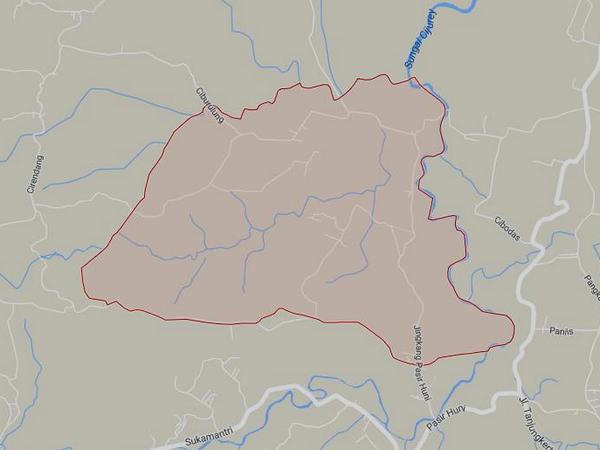 Peta wilayah Desa Sukatani (gambar: Google Maps)