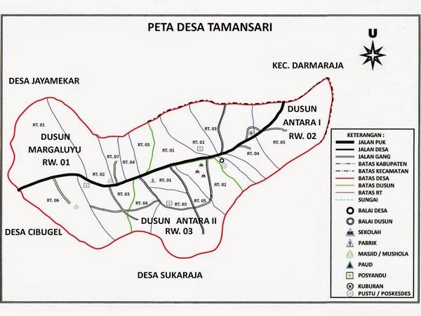 Peta wilayah Desa Tamansari (gambar: Desa Tamansari)