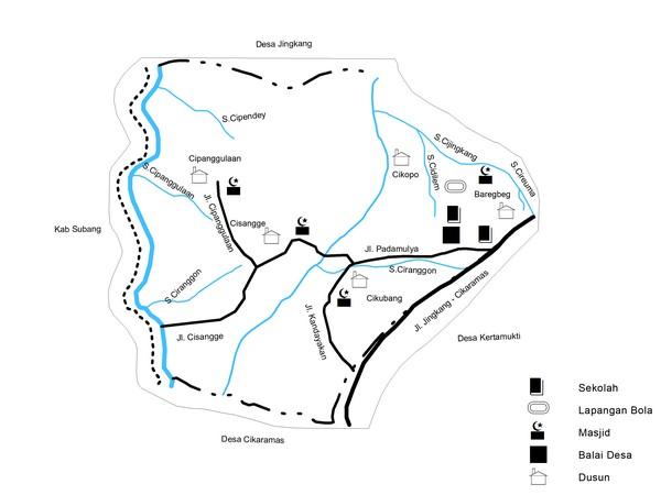 Peta wilayah Desa Tanjungmedar (gambar: KKNM Unpad)