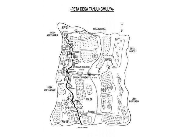 Peta wilayah Desa Tanjungmulya (gambar: KKNM Unpad)