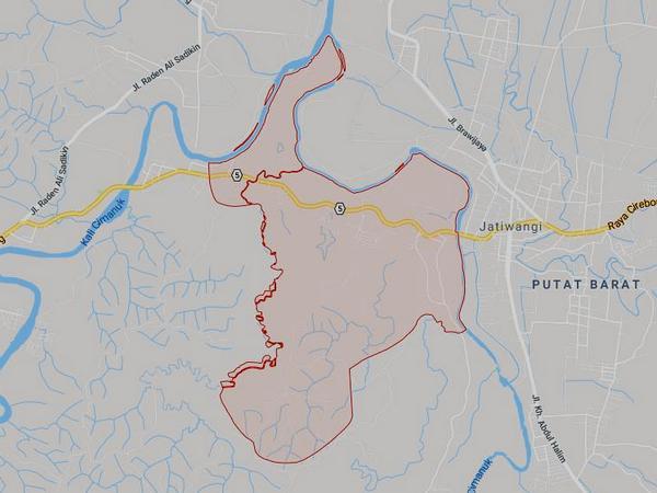 Peta wilayah Desa Tolengas (gambar: Google Maps)