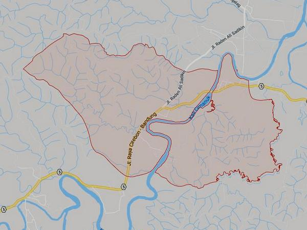 Peta wilayah Desa Tomo (gambar: Google Maps)