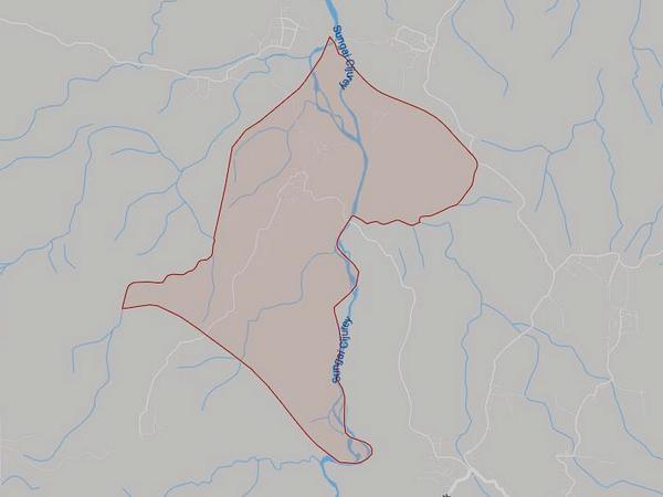 Peta wilayah Desa Wanajaya (gambar: Google Maps)