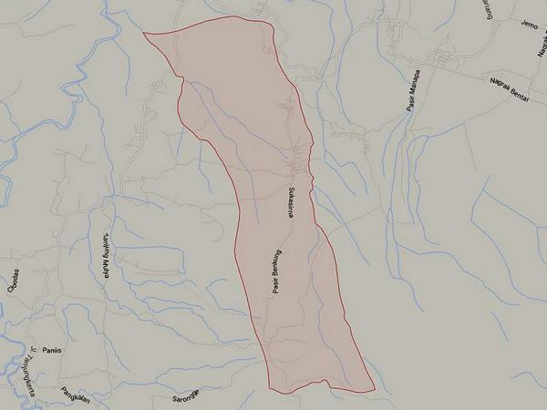 Peta wilayah Desa Boros (gambar: Google Maps)