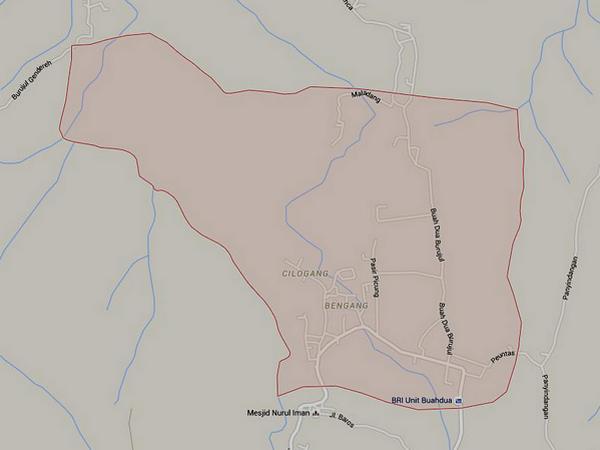 Peta wilayah Desa Buahdua (gambar: Google Maps)