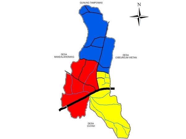 Peta wilayah Desa Cibeureum Kulon (gambar: KKNM Unpad)
