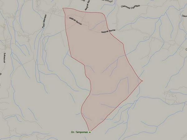 Peta wilayah Desa Cibitung (gambar: Google Maps)