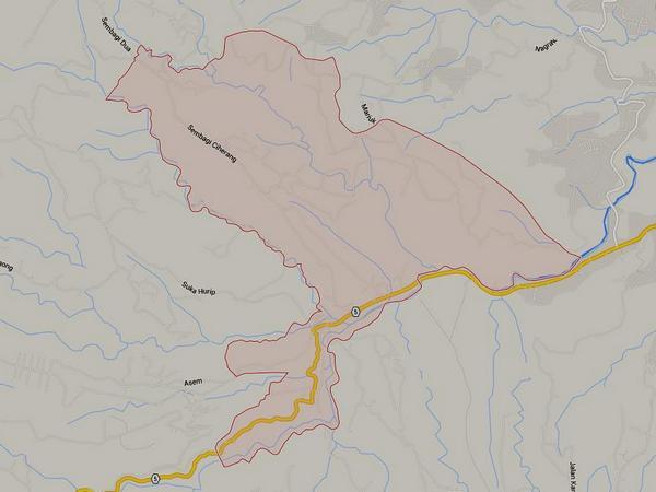 Peta wilayah Desa Ciherang (gambar: Google Maps)