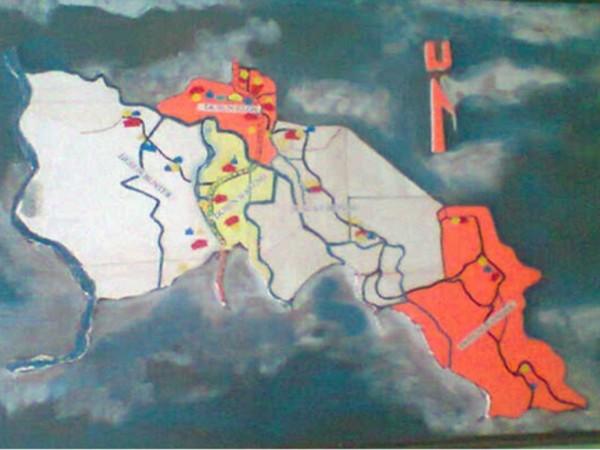 Peta wilayah Desa Cikareo Selatan (foto: KKNM Unpad)