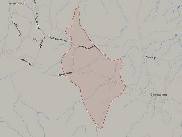 Peta wilayah Desa Cilangkap (gambar: Google Maps)
