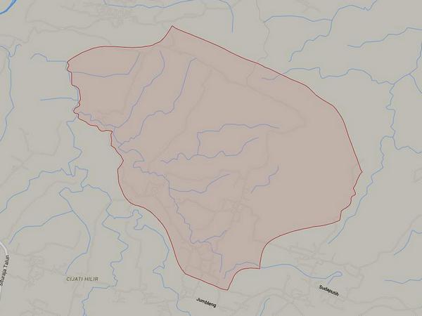 Peta wilayah Desa Cilopang (gambar: Google Maps)