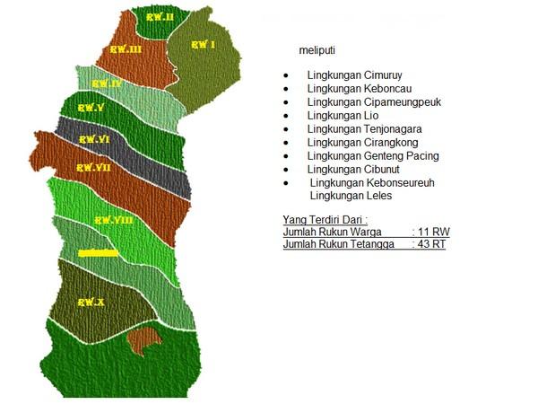 Peta wilayah Kelurahan Cipameungpeuk (gambar: Kelurahan Cipameungpeuk)