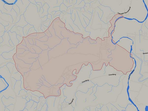 Peta wilayah Desa Mekarwangi ketika masih bergabung dengan Desa Darmawangi (gambat: Google Maps)