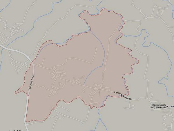 Peta wilayah Desa Jatimekar (gambar: Google Maps)