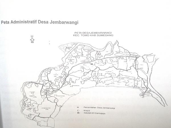 Peta wilayah Desa Jembarwangi (foto: KKNM Unpad Jembarwangi)