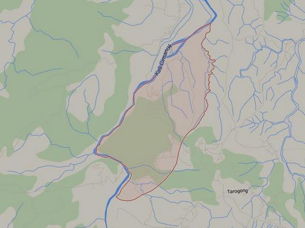 Peta wilayah Desa Kadujaya (gambar: Google Maps)
