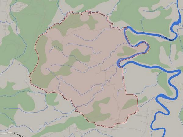 Peta wilayah Desa Paku Alam (gambar: Google Maps)