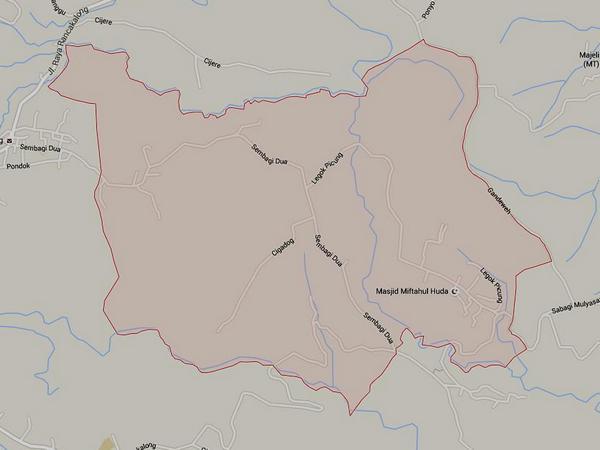 Peta wilayah Desa Pamekaran (gambar: Google Maps)