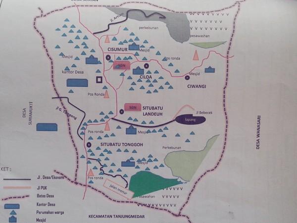 Peta wilayah Desa Pamekarsari (gambar: KKNM Unpad)