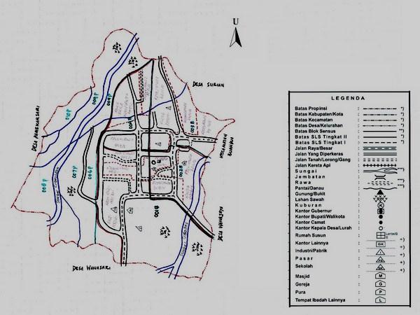 Peta wilayah Desa Ranggasari (gambar: Desa Ranggasari)