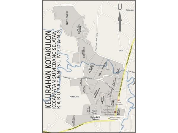 Peta wilayah Kelurahan Kotakulon (gambar: Kelurahan Kotakulon)