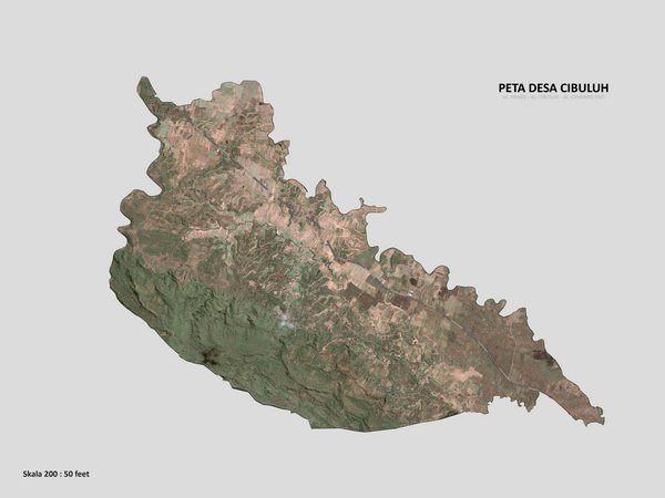 Peta wilayah Desa Cibuluh (gambar: KKNM Unpad)