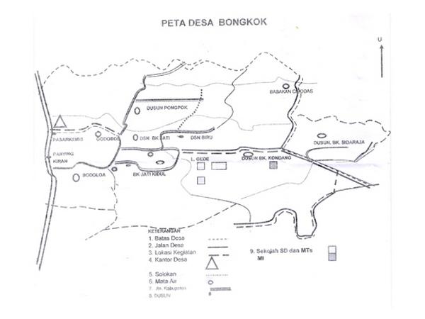 Peta Desa Bongkok (gambar: Desa Bongkok)