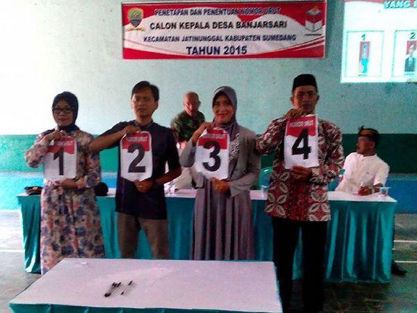 Pemilihan Kepala Desa Banjarsari 2015 (foto: facebook Desa Banjarsari)