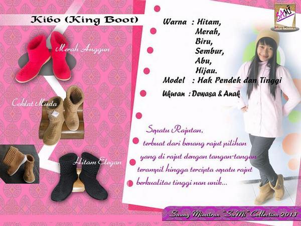 Salah satu katalog produk (foto oleh facebook Saung Mimitran)