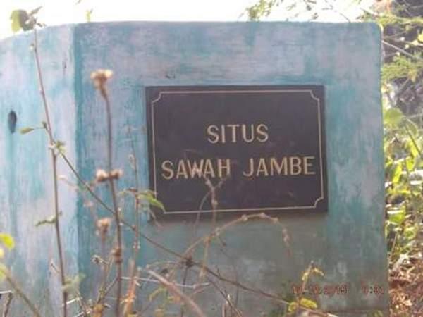 Penanda di Situs Sawah Jambe (foto: Cipaku Darmaraja)